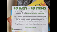 40 days - 40 items or Lent Plastic Challenge
