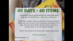 40 days - 40 items or Lent Plastic Challenge